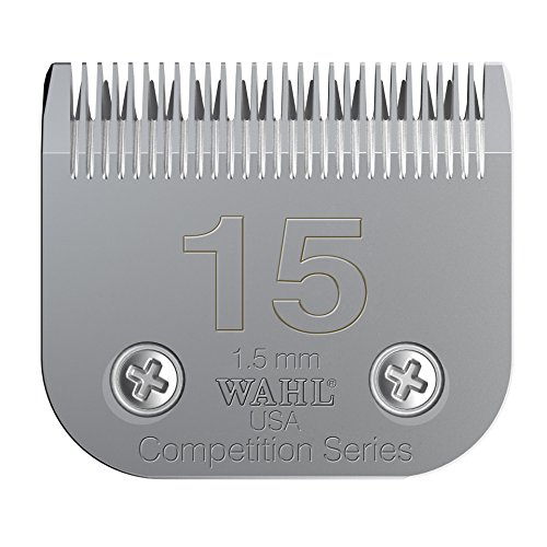 Wahl Professional Animal #15 Medium Fine Competition Series Detachable Blade with 3/64-Inch Cut Length (#2357-100)