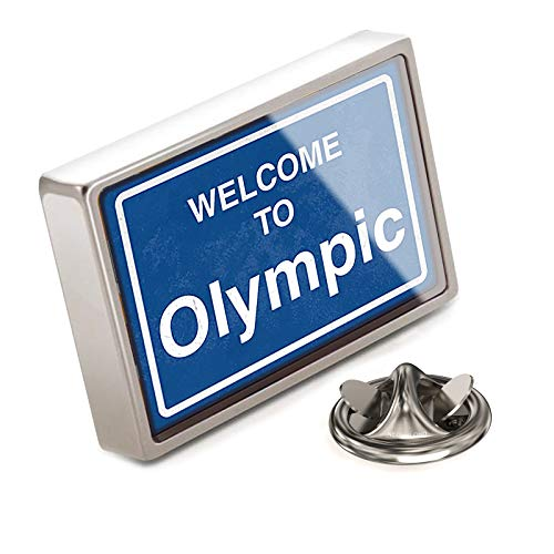 (NEONBLOND Lapel Pin Sign Welcome to Olympic)