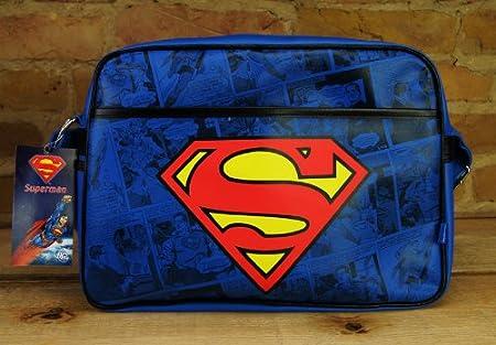 Original Superman LOGO RETRO Tasche Messenger Bag Schultertasche NEU