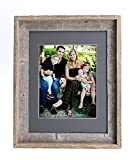 8x10 frame with mat - BarnwoodUSA 11x14 Inch Signature Picture Frame Matted for 8x10 Inch Photos - 100% Reclaimed Wood, Cinder Mat