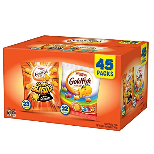 - Pepperidge Farm, Goldfish, Crackers, 44.9 oz, Variety Pack, Box, Snack Packs, Pack Of 45 (Variety Pack, 45 ct)