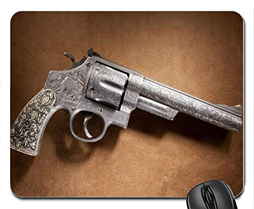 Pistols Guns Revolvers Smith and Wesson Mouse Pad Mats Mousepad Hot Gift (Smith Pad Wesson Mouse And)