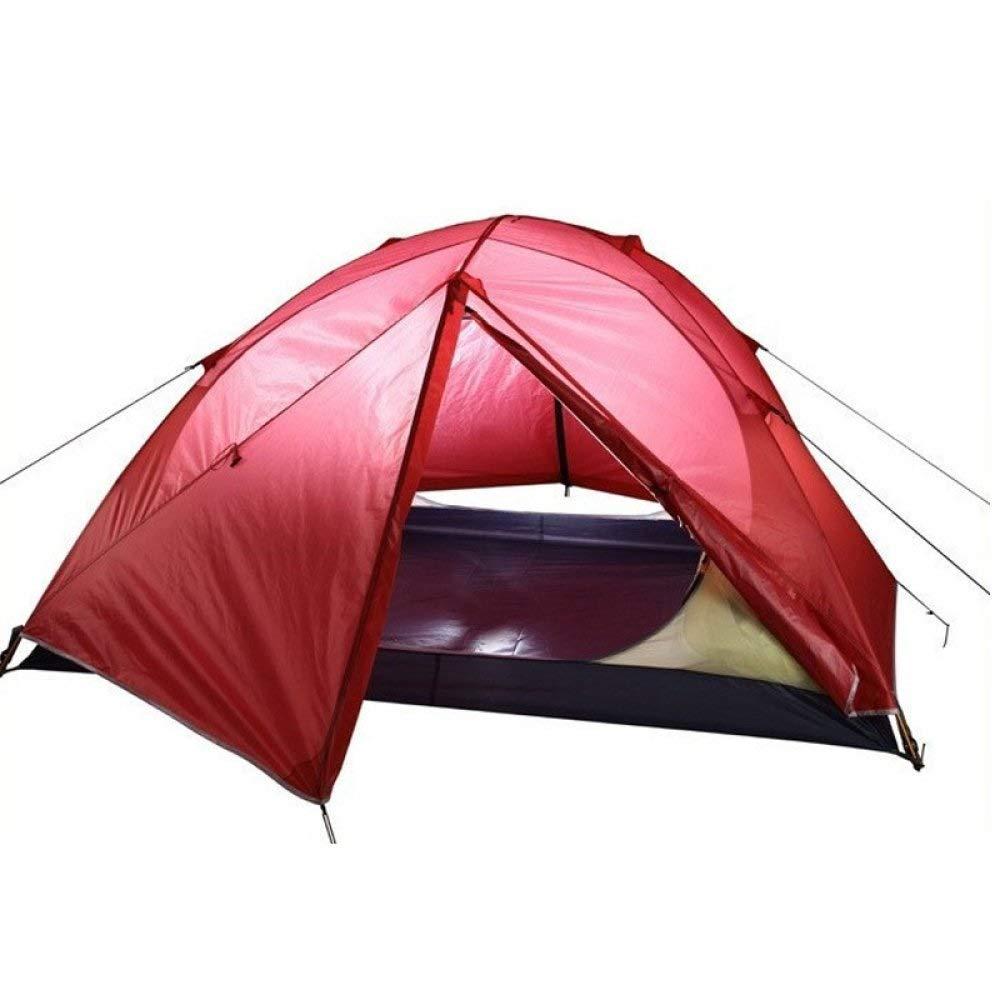 XAJGW Leichte 2 Personen 3 Saison Camping Dome-Zelt, ultraleichte Wasserdichte beschichtete Silikonhülle mit Zwei Türen und Aluminiumstangen für 2-Mann-Outdoor-Backpacking-Familien-Strandwandern
