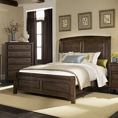 Coaster Home Furnishings 203251Q Rustic King Bed, Cocoa Brown King Sleigh Bedroom Suite