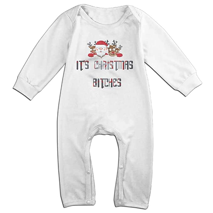 amazoncom dsas baby jumpsuit onesies newborn girls boys its christmas bitches long sleeves coverall outfits clothing