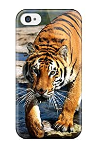 Pamela Sarich's Shop New Iphone 4/4s Case Cover Casing(prowler, Bengal Tiger) 9739022K77197275