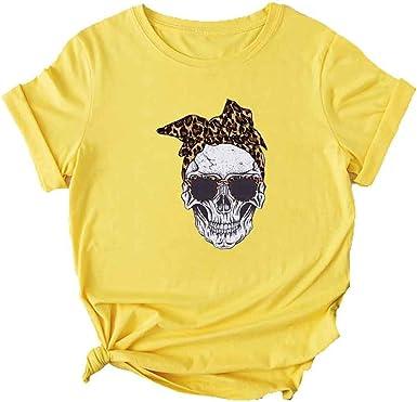 t-shirt tête de mort femme 4
