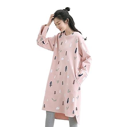 Manga larga vestido de maternidad princesa dulce pijamas de dos piezas conjunto de las mujeres de
