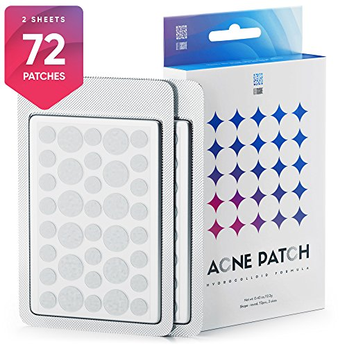 Patch Treatment (Acne Pimple Master Patch 72 dots - Absorbing Hydrocolloid Blemish Spot Skin Treatment and Care Dressing)