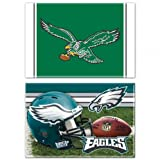 Philadelphia Eagles Rectangle Magnet, 2-Inch X 3-Inch 2 Pack Retro NFL Licensed