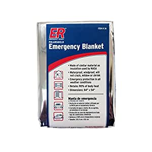 ER Emergency Ready Thermal Mylar Blankets, Pack of 4