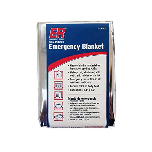 ER Emergency Ready 3AQK 4PK Thermal Mylar Blankets, Pack of 4