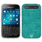 Head Case Designs Teal Crocodile Skin Patterns Soft Gel Back Case Cover for BlackBerry Classic Q20