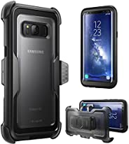 i-Blason Armorbox Series Case for Galaxy S8, [Full Body] [Heavy Duty] Shock Reduction / Bumper Case Without Sc