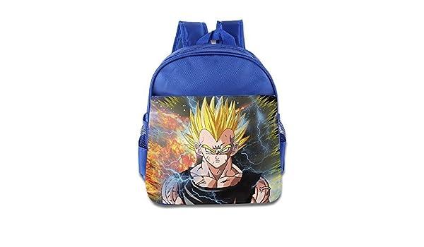 Dragon Ball Z Vegeta Majin Kids mochila escolar azul eléctrico: Amazon.es: Hogar