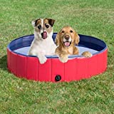YJYdada New Foldable Dog Paddling Pool Swimming Pet Bath Garden Water Play Outdoor Fun (120X30)