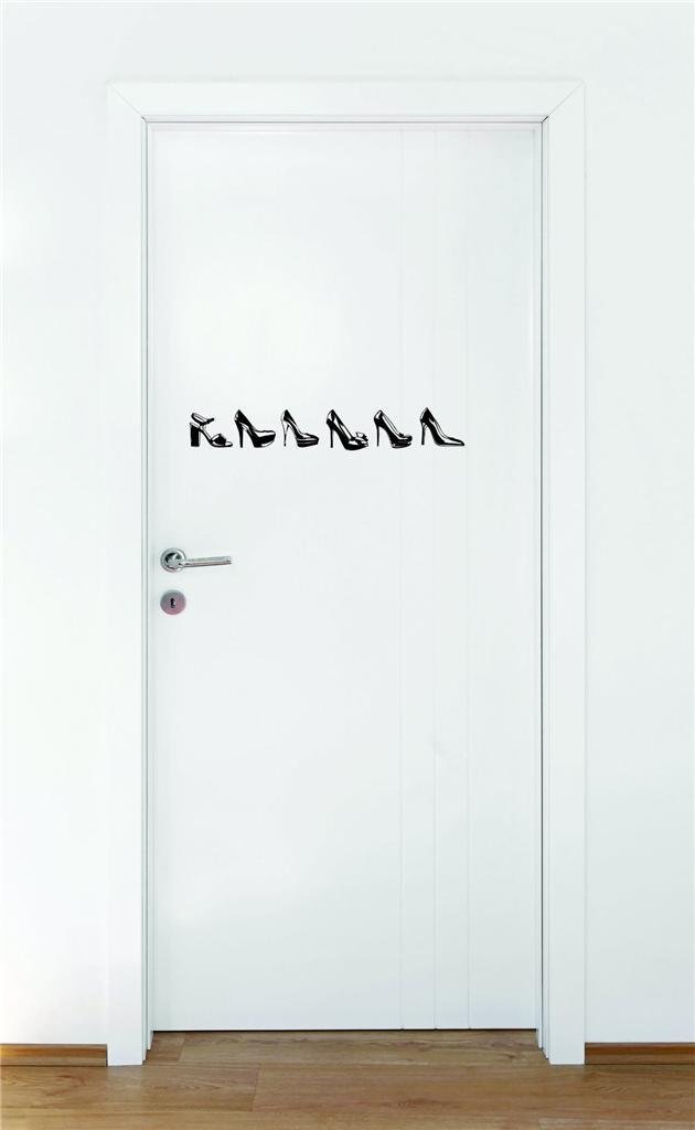 10 x 40 Design with Vinyl Moti 1464 3 Shoe Heel Fashion Peel /& Stick Wall Sticker Decal Black