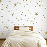 120pcs/set Vinyl Star Wall Decals Stickers for Home Wall Decor | Night Sky Removable Mixed Size for Nursery or Kids Room