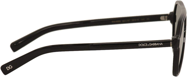 Dolce /& Gabbana D/&G DG4355 DG//4355 501//87 Black Fashion Pilot Sunglasses 56mm