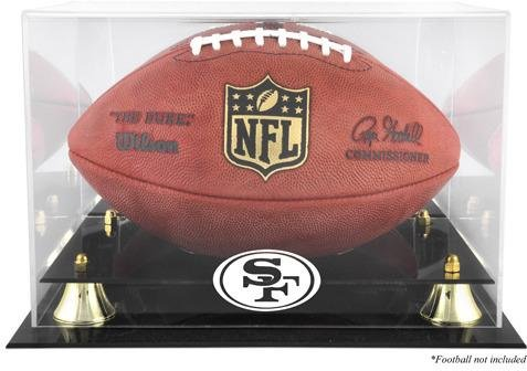 picture of San Francisco 49ers Golden Classic Football Display Case with Mirror Back