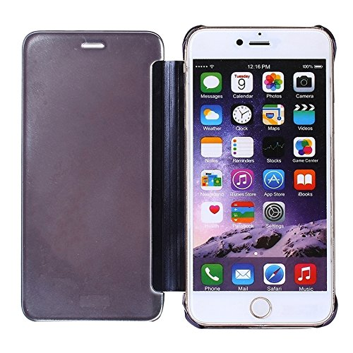 Phone Taschen & Schalen Für iPhone 6 Plus & 6s Plus Galvanik Spiegel Horizontal Flip PC + Leder Schutzhülle ( SKU : S-IP6P-0743P )
