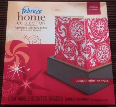 Febreze Home Collection Flameless Luminary Refill - Peppermint Sparkle