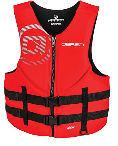 O'Brien Men's Traditional Neoprene Life Jacket, Red, 3X-Large