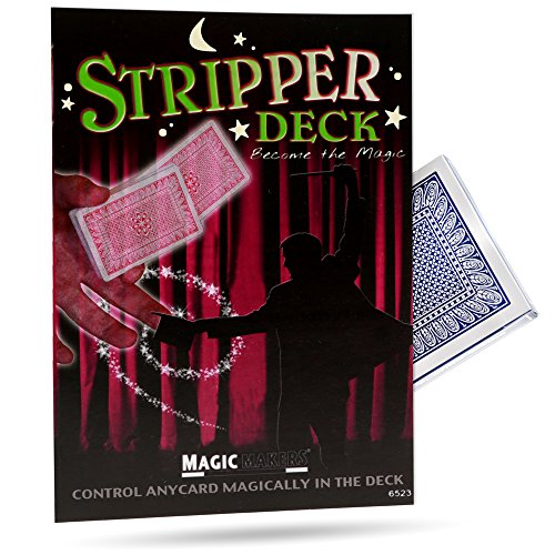 (Magic Makers Stripper Deck, Pro Brand Poker Size, Red OR Blue)