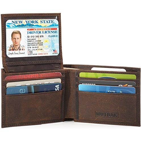 MUTBAK Shadow - Passcase Leather Wallet, Tile Slim Pocket, RFID/NFC - Nfc Pocket