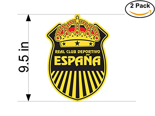 2006 Real Football - CanvasByLam real espana 2006 Honduras Soccer Football Club FC 2 Stickers Car Bumper Window Sticker Decal Huge 9.5 inches