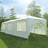 mecor 10'x30′ Party Tent Canopy Wedding Tent Event Tent-Outdoor Gazebo w/PE Joint Fittings, Ropes and Stakes, 8 Sidewall 3 Rooms, White