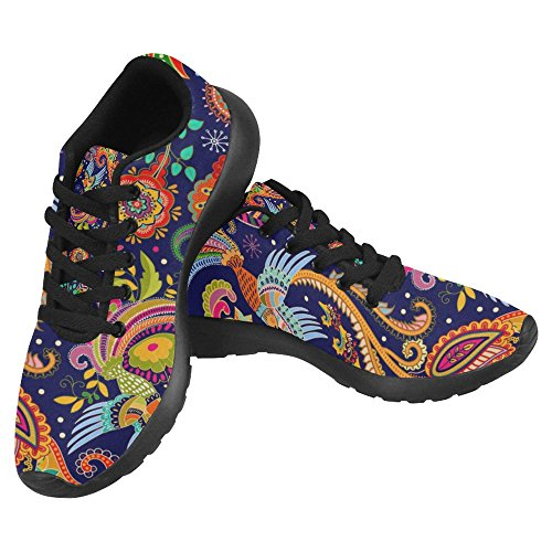 Interessante Womens Jogging Running Sneaker Leggero Go Easy Walking Casual Comfort Scarpe Da Corsa Beautiful Vintage Floral Paisley Pattern Multi 3