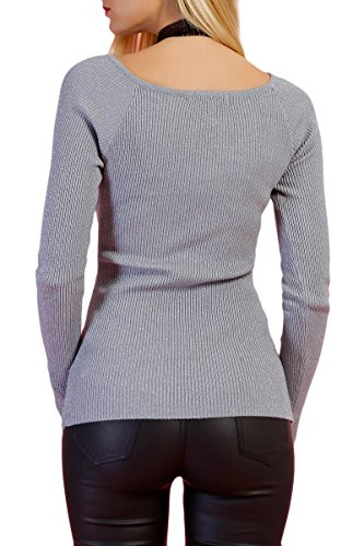 INFINIE PASSION - Gris - Suéter con lentejuelas Gris