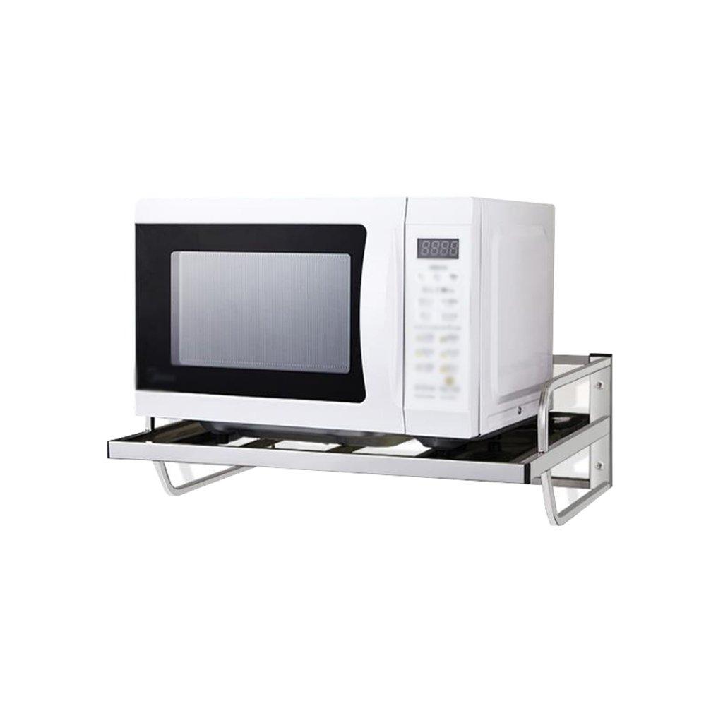 Estante de cocina de acero acero acero inoxidable montado en la pared negrita gruesa de 1 capa con gancho Horno de microondas estante Horno Estante de pared simple (tamaño: 55 cm, 58 cm) ( Tamaño : 55cm ) e323fc