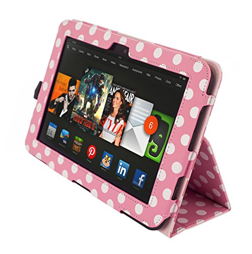 Kyasi Seattle Classic Folio Case  for Kindle HD, Pink Pol...