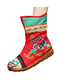 Tianrui Crown Women And Ladies Embroidery Fall Patchwork Ankle Boot Shoe