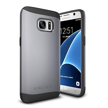 Snugg Funda Galaxy S7, Samsung Galaxy S7 Case Slim Carcasa de Doble Capa [Infinity Series] Revestimiento con Protección Anti-Golpes – Gris