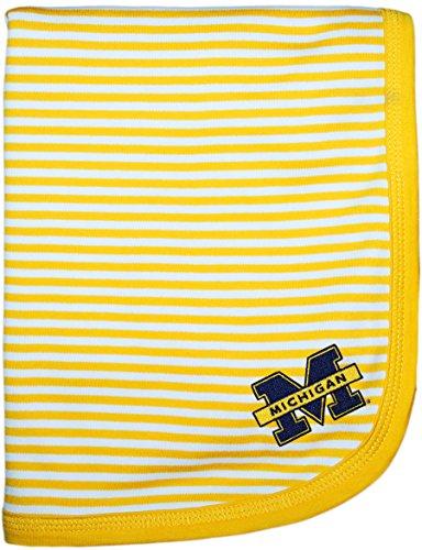 University of Michigan Wolverines Split M NCAA Baby Blanket 33