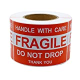 MFLABEL 4''x6'', Fragile Stickers, Do Not Drop Labels, Handle with Care Shipping Labels