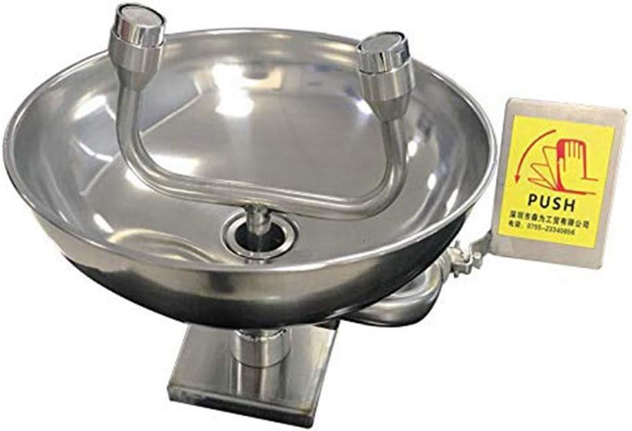 JL Lavado Ojos montado Pared Lavaojos Ojos Emergencia Boquillas Lavado Ojos Ducha de Seguridad Acero Inoxidable 304 para la Industria del Laboratorio
