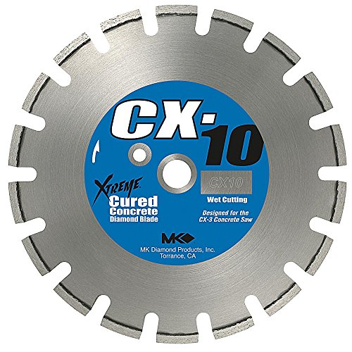 MK Diamond 159615 CX-10 Extreme 12-Inch Wet Cutting Diamond Segmented Saw Blade with 1-Inch Arbor for Cured Concrete