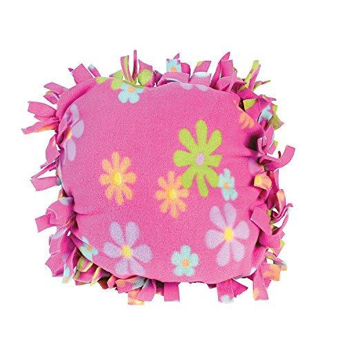 Fun Express Fleece Flower Tied Pillow Craft Kit ()