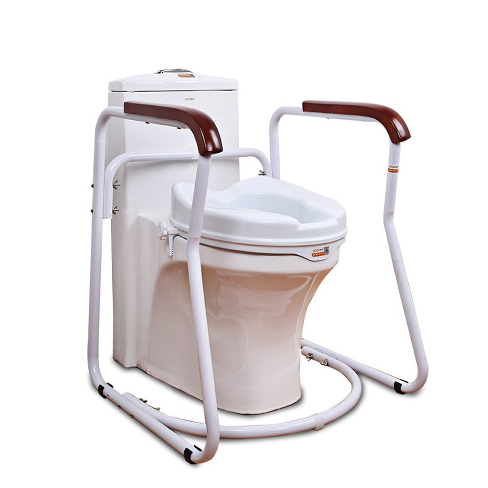 HUKOER Bathroom Toilet Safety Frame Rail Safety Frame for Elderly Toilet,Deluxe Safety Toilet Support(PU) by H HUKOER