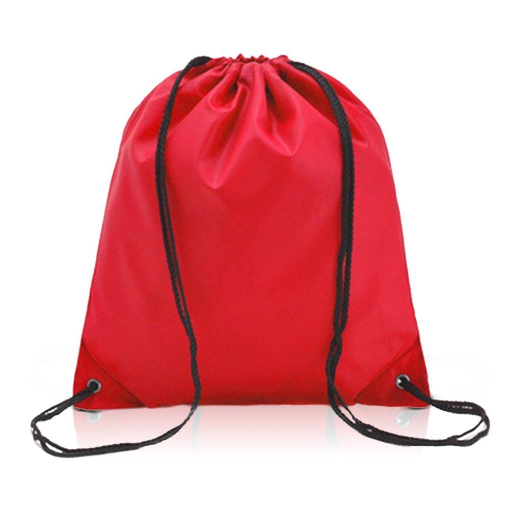 Leisial Imperméable Sac à Cordon Sac en Tissu Oxford pour Élégant Piscine Plage Sport Gym Sac de Randonnée Voyage Drawstring Bag(Rose)