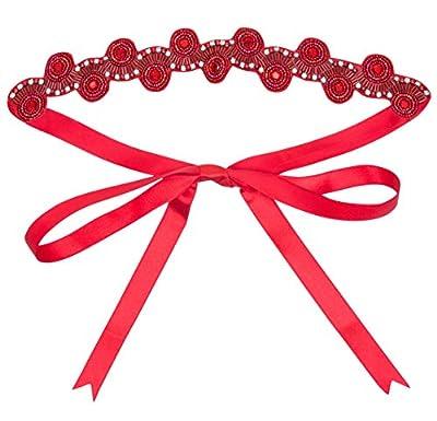 gatsbylady london Eliza Vintage Inspired Flapper Headband in Red