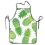 Green Pineapple Unisex Adjustable Kitchen Cooking Chef's Apron,Perfect For Cooking,Baking,Crafting