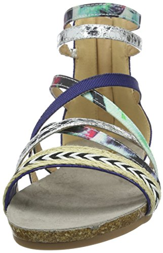 La Strada Blue Coloured Sandal - Sandalias Mujer Azul - Blau (4220 - woven blue)