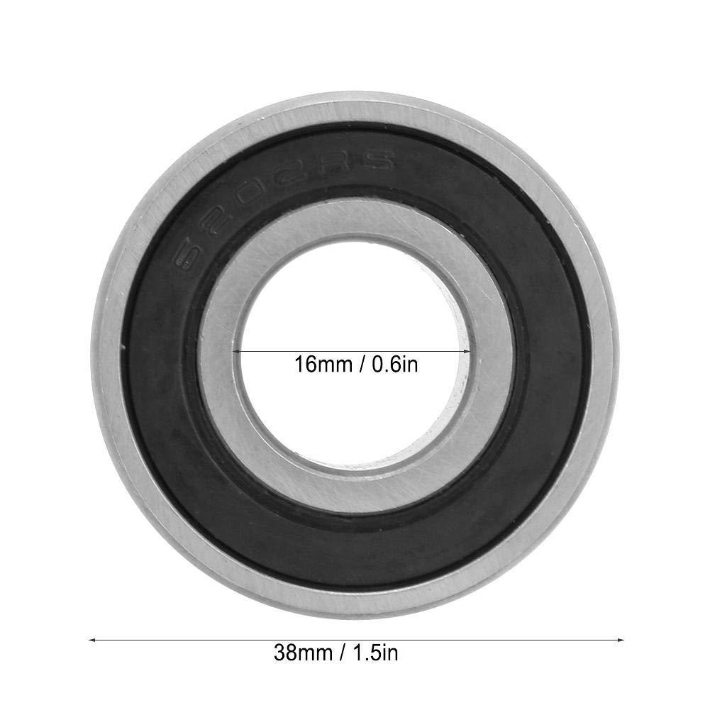 NITRIP Cuscinetti A Sfera Cuscinetti A Sfere In Acciaio con Cuscinetti A Sfere Neri 15mm 10pz 6202-RS