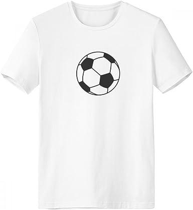 DIYthinker Fútbol Sport Line Patrón Dibujo de cuello redondo camiseta blanca de manga corta Comfort Deportes camisetas de regalos - Multi - S: Amazon.es: Ropa y accesorios