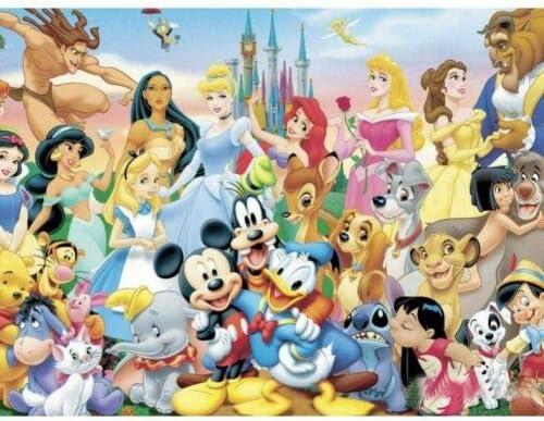 5D Diamante Pintura Taladro redondo completo Bordado Decoraciones Artesanías Kits de punto de cruz 40 * 30CM Disney Story